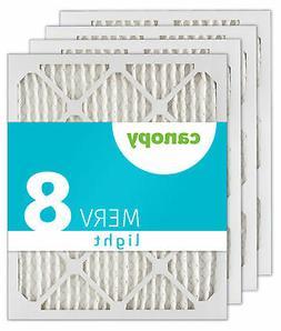 "16x20x1 Canopy Furnace AC Filter MERV 8, 15 1/2"" x 19 1/2"" x"