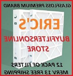 12 PACK AIR FILTERS MERV 13 ULTRA PREMIUM GLASFLOSS PLEATED