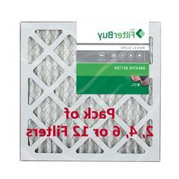 FilterBuy 14x14x1, Pleated HVAC AC Furnace Air Filter, MERV