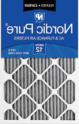14x24x1  Furnace Air Filters MERV 12 Pleated Plus Carbon 6 P