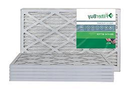 FilterBuy 14x25x1 MERV 13 Pleated AC Furnace Air Filter, Pac