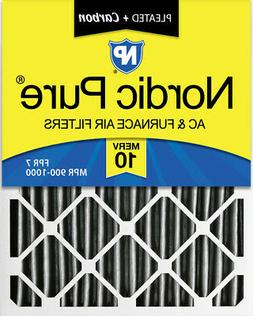 Nordic Pure 16x20x4  Furnace Air Filters MERV 10 Pleated + C