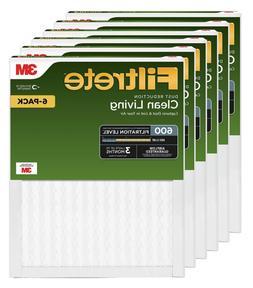 Filtrete 16x25x1, AC Furnace Air Filter, MPR 600, Clean Livi