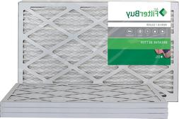 FilterBuy 16x25x1, Pleated HVAC AC Furnace Air Filter, MERV