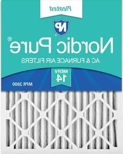 Nordic Pure 16x25x2 MERV 14 Pleated AC Furnace Air Filters,