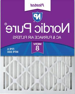 Nordic Pure 16x25x2 Pleated MERV 8 Air Filters 3 Pack