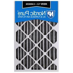 16x25x2 Air Filter Carbon Merv 12 Furnace Odor Charcoal Medi