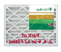 FilterBuy 16x20x4, Pleated HVAC AC Furnace Air Filter, MERV