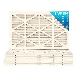 14x24x1 MERV 8 Pleated AC Furnace Air Filters.    6 Pack / $