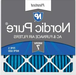 Nordic Pure 20x20x1 MERV 7 Pleated AC Furnace Air Filters, 2