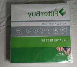 FilterBuy 20x20x2 MERV 13  Platinum Pleated AC Furnace Air F