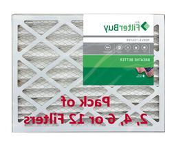 FilterBuy 16x25x4, Pleated HVAC AC Furnace Air Filter, MERV