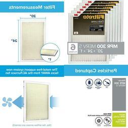 Filtrete 20X24X1, Ac Furnace Air Filter, Mpr 300, Clean Livi