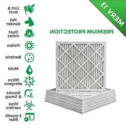 12X12X1 MERV 13 Pleated AC Furnace Air Filters.    6 Pack