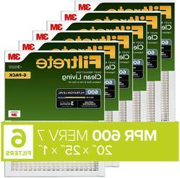 20x25x1 ac furnace air filter mpr 600