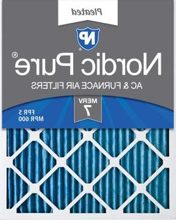 Nordic Pure 20X25X1 Merv 7 Pleated Ac Furnace Air Filters, 6