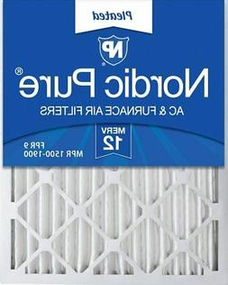 Nordic Pure 20x25x2 MERV 12 Pleated AC Furnace Air Filters 3