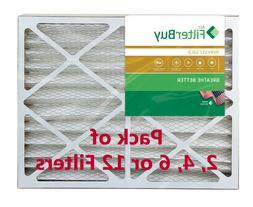 FilterBuy 20x25x4, Pleated HVAC AC Furnace Air Filter, MERV
