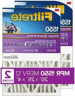 Filtrete 20x25x4, AC Furnace Air Filter, MPR 1550 DP, Health