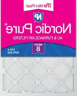 20x30x1  Tru Mini Pleat MERV 8 AC Furnace Air Filters 6 Pack