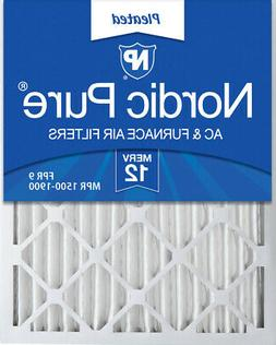 Nordic Pure 20x35x2 Pleated MERV 12 Air Filters 3 Pack