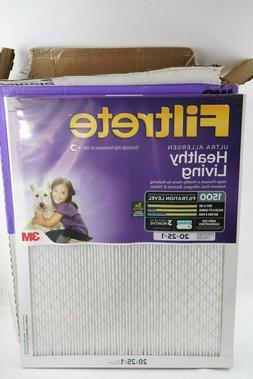 4 Filtrete 20x25x1 Ultra Allergen 1500 AC Furnace Air Filter