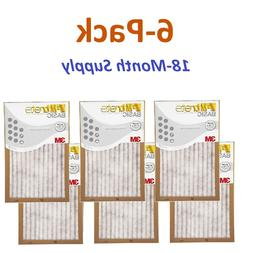 6-Pk  Filtrete-Basic 3M Air-Filter Replacement Pad Furnace D