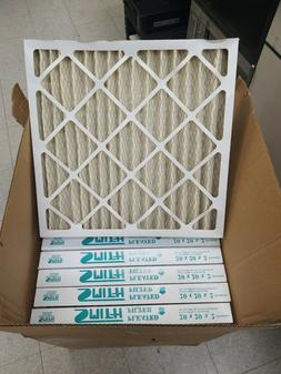 case of 12 air filters pleated 20x20x2