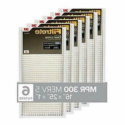 Filtrete 16x25x1, AC Furnace Air Filter, MPR 300, Clean Livi