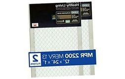 Filtrete MPR 2200 12x24x1 AC Furnace Air Filter, Healthy Liv