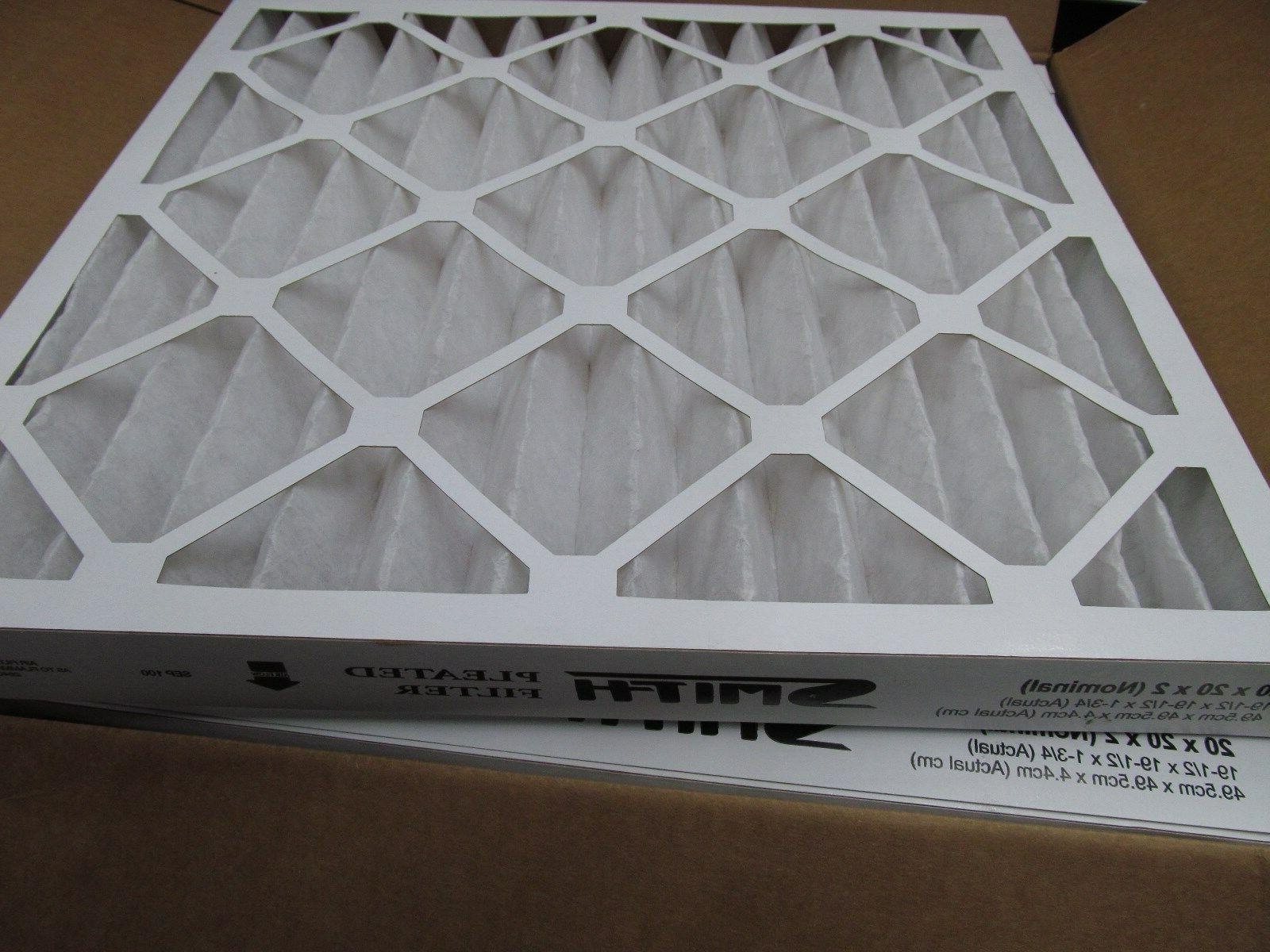 Case Air Pleat 20x20x2 Air Furnace Filter HVAC EB1307
