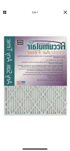 Accumulair Diamond 1-Inch MERV 13 Air Filter/Furnace Filters