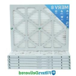 14x20x1 MERV 8 Pleated AC Furnace Air Filters.    6 Pack / $