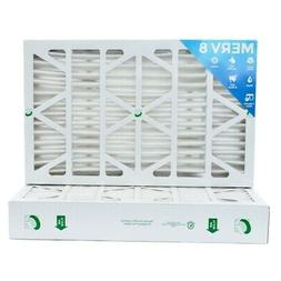 16x25x4 MERV 8 Air Filters for AC & Furnace.  2 Pack