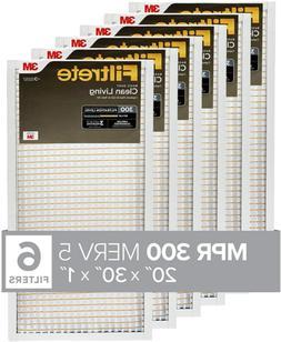 Filtrete MPR 300 20x30x1 AC Furnace Air Filter, Clean Living
