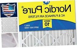 Nordic Pure 12x24x2 MERV 10 Pleated AC Furnace Air Filter, B